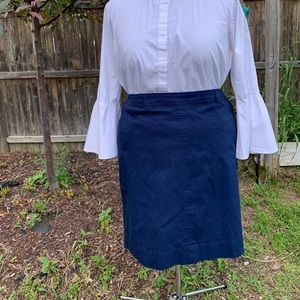 Cute Textured Cotton Skirt - Talbots 22WP